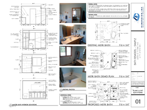 Dimension Bath Plan - SAMPLE 02