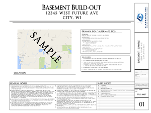 Dimension Basement Plan - SAMPLE 01