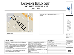 Dimension Basement Plan - SAMPLE 02