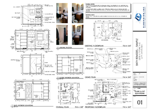 Dimension Bath Plan - SAMPLE 01