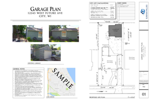 Dimension Garage Plan - SAMPLE B