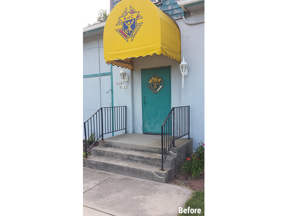 Knights of Columbus Menomonee Falls Exterior Remodel